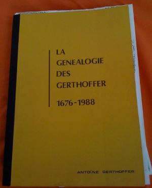 Ouvrage La Généalogie des Gerthoffer